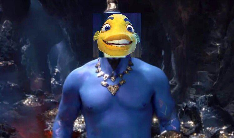 Gentlemen, behold......................Will Smith Fish Genie!!!! #Aladdin2019 <br>http://pic.twitter.com/vKvm1uBx3t