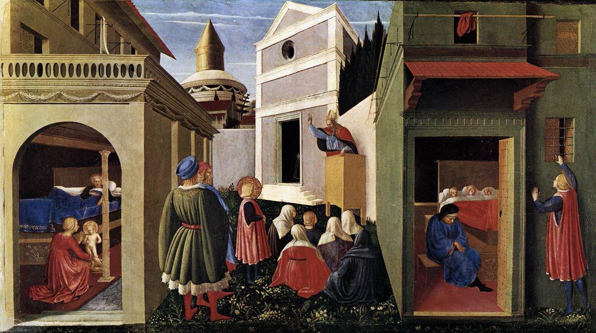 The Story of St. Nicholas, 1448 #fraangelico #italianart<br>http://pic.twitter.com/xW4QDNYqYg