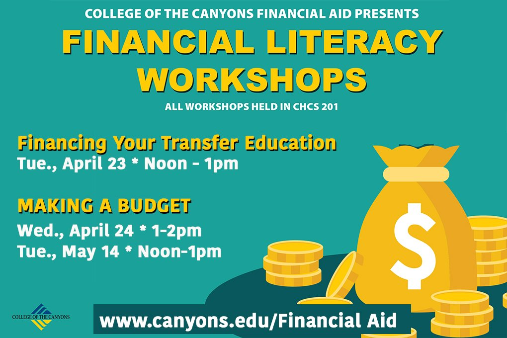 Coc Students Need Help Finding Ways To Finance Your Education Once You Transfer Or Balancing Budget Stay On Track Come One Of These Works