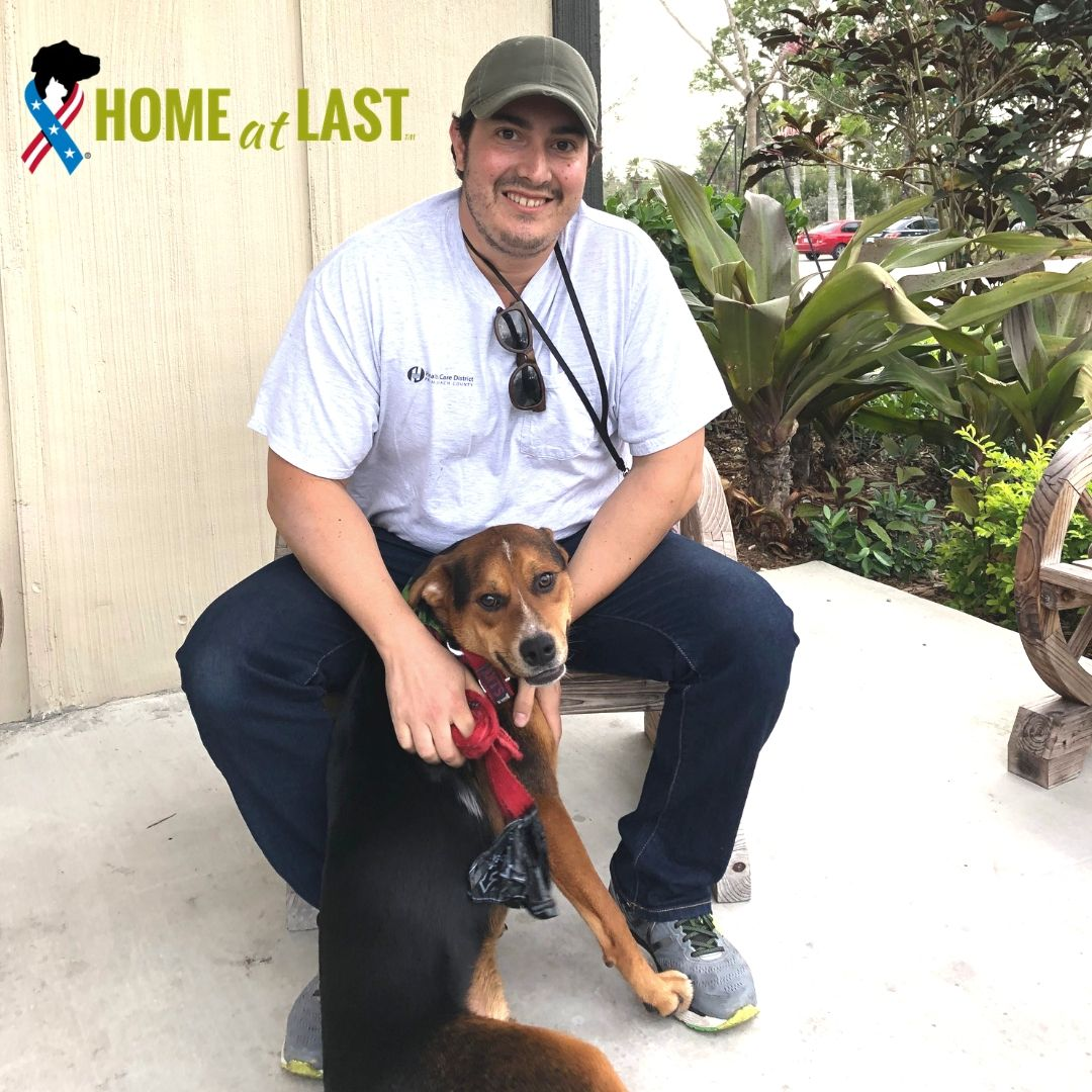 Joseph served in both Iraq + Afghanistan and is now hero to adorable Marco (formerly Scar), adopted through our partnership with @BDRRescue. BDRR gives #veterans in our program a reduced adoption fee of just $50...woot! #homeatlast