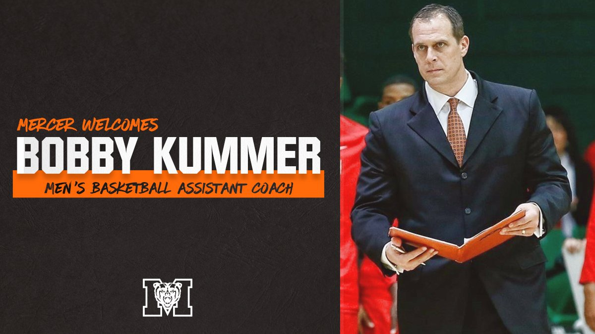 Coach G's staff is set! 🐻🏀💪  Help us welcome @BobbyKummer, @CoachK_Lew, Juan Cardona & @djbyrd21 to the Mercer Family!  #RoarTogether  📰➡️ http://bit.ly/2PfeUlk