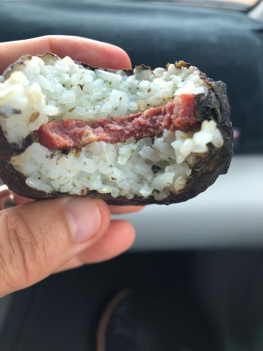 On Kauai for a town hall but first things first. Goteborg musubi!