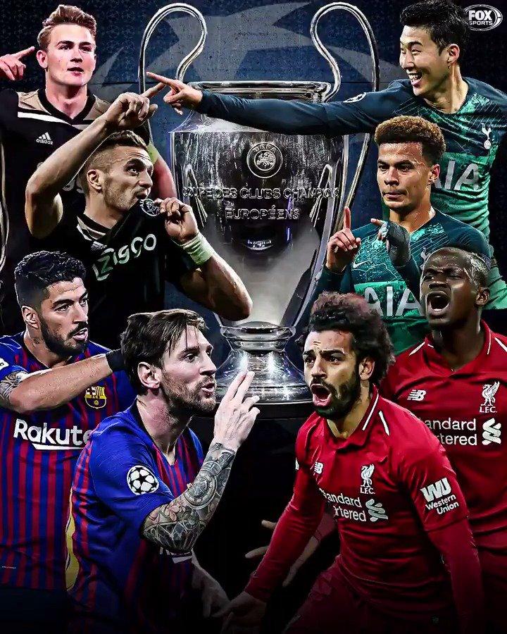 Barcelona 🆚 Liverpool Ajax 🆚 Tottenham   The Champions League semifinals are set! 🔥🔥