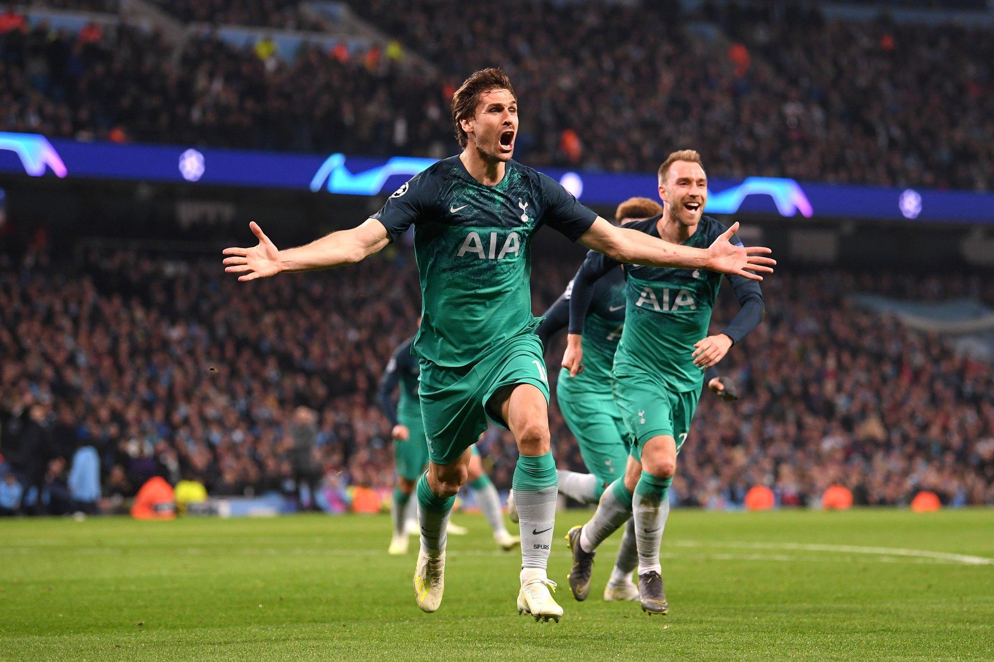 أهداف المباراة المثيرة بين مانشستر سيتي وتوتنهام - دوري أبطال أوروبا