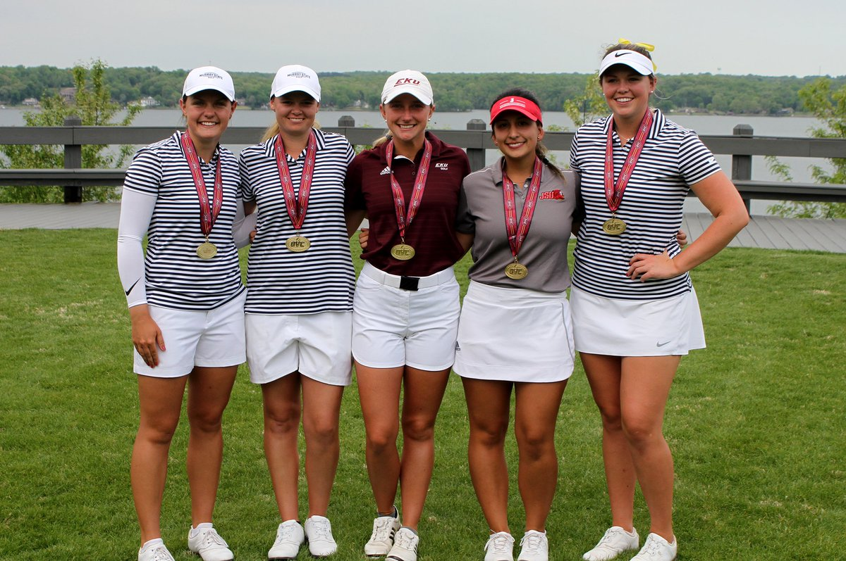 Here is a look at the 2019 OVC Women's Golf Championship ⛳ All-Tournament Team:  • Anna Moore, Murray State • Linette Holmslykke, Murray State • Elsa Moberly, Eastern Kentucky • Paula Vega, Jacksonville State • Jane Watts, Murray State