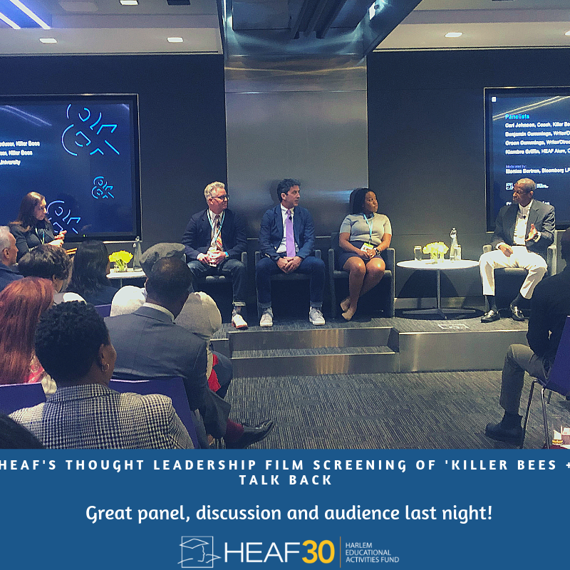 test Twitter Media - Thank you to everyone who came out to our #ThoughtLeadership Screening of @killerbeesmovie + Talkback we had a great conversation around college readiness and economic disparity. Shout out to @Bloomberg for making the evening possible! #killerbeesmovie #bortherscummingsfilm https://t.co/eXvTWUa7WD