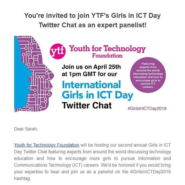 GirlsInICTDay2019 Twitter Chat Q1-3