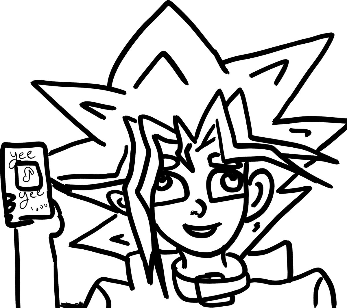 I drew this in 5 min for a friend~!  #yugioh #5minutesketch #doodle #art #anime #lineart #bad #Yeehaw #trapcard #meme #wow #cute