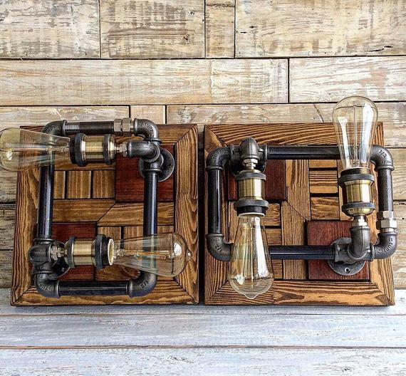 Bathroom lights, Farmhouse ceiling lights, Rustic Farmhouse Decor, Wall Light, Vanity Light, #Steampunk Lamp, #Fixture