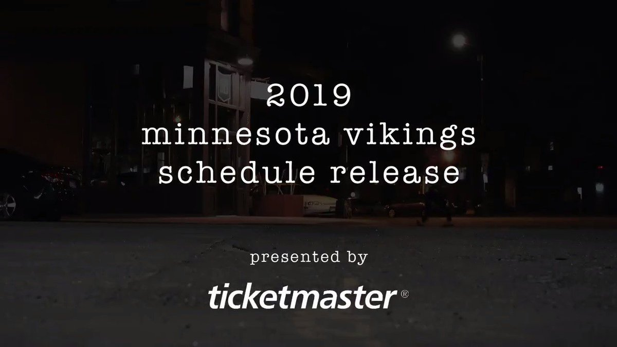 Two Thousand Nineteen Vikings schedule is here Poetry style mnvkn.gs/schedule