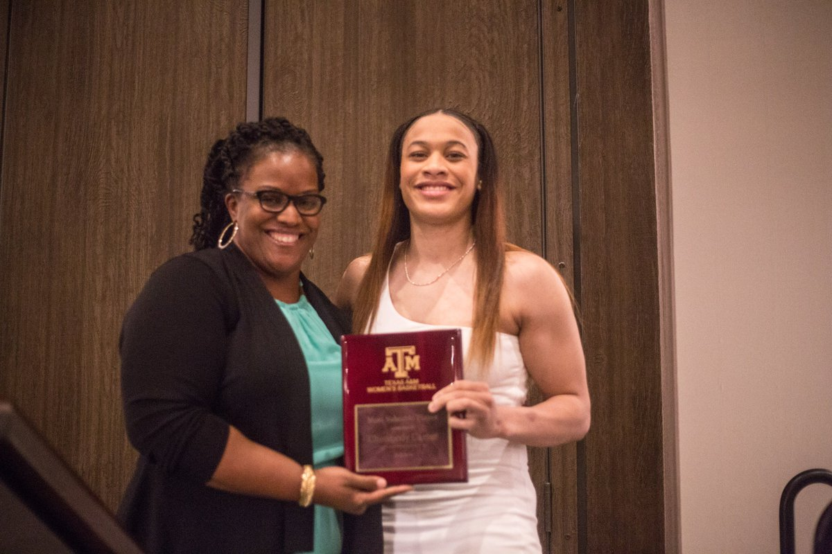 They chant MVP when she shoots a free throw 😌  No sophomore slump for this one. A walking bucket, she gave us a show every time she touched the ball and then some.  Your 2018-2019 Team MVP: @ChennedyCarter 🏆