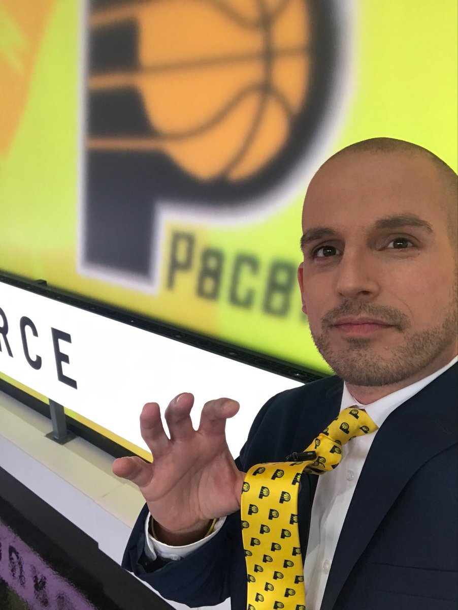 @Pacers tie on for for a big win tonight. LETS GOOOOOOO #GoldDontQuit #Pacers