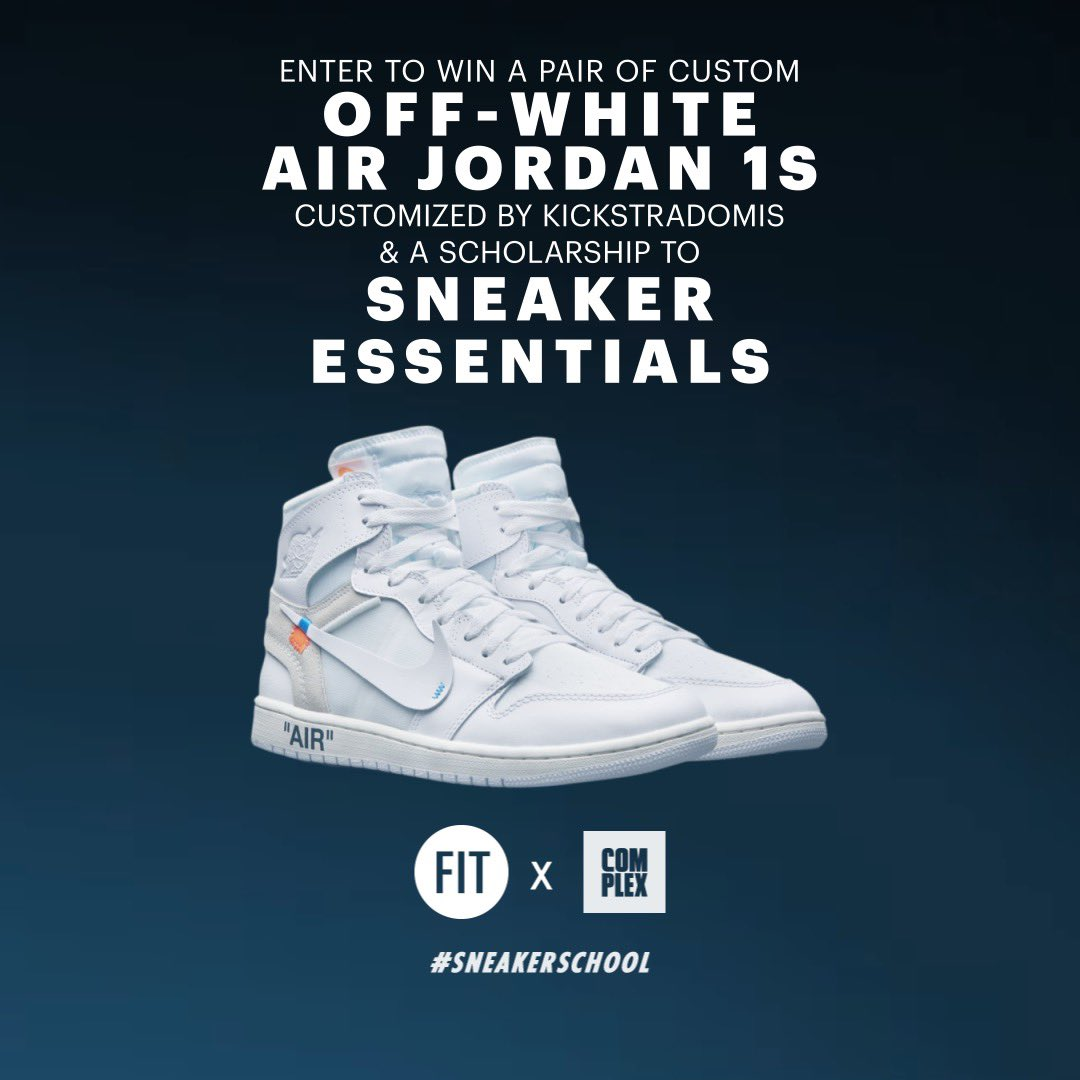 24fc9f5c2421 Custom Off-White Jordan 1 GiveAway with my  YellowbrickSnkr  Complex fam!  Enter by clicking the link! http   bit.ly 2KEIq5b pic.twitter.com igQpL3QklF