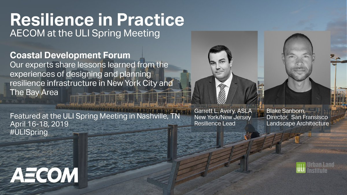 We are thrilled to have taken part in the #CoastalDevelopment Forum at #ULISpring. Garrett Avery and Blake Sanborn presented on #Resilience in Practice, providing insight from their work in #NYC and The #BayArea