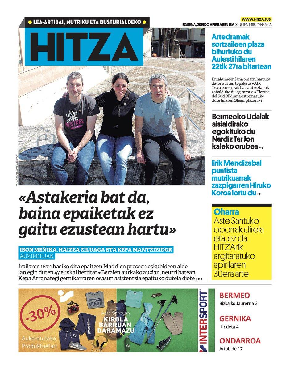 GAURKO AZALA (apirilak 18, eguena) @kaltzo @BermeokoUdala @ArteDrama @HutsTeatroa @JaiAlaiNews @MutrikukoUdala : https://lea-artibaietamutriku.hitza.eus/