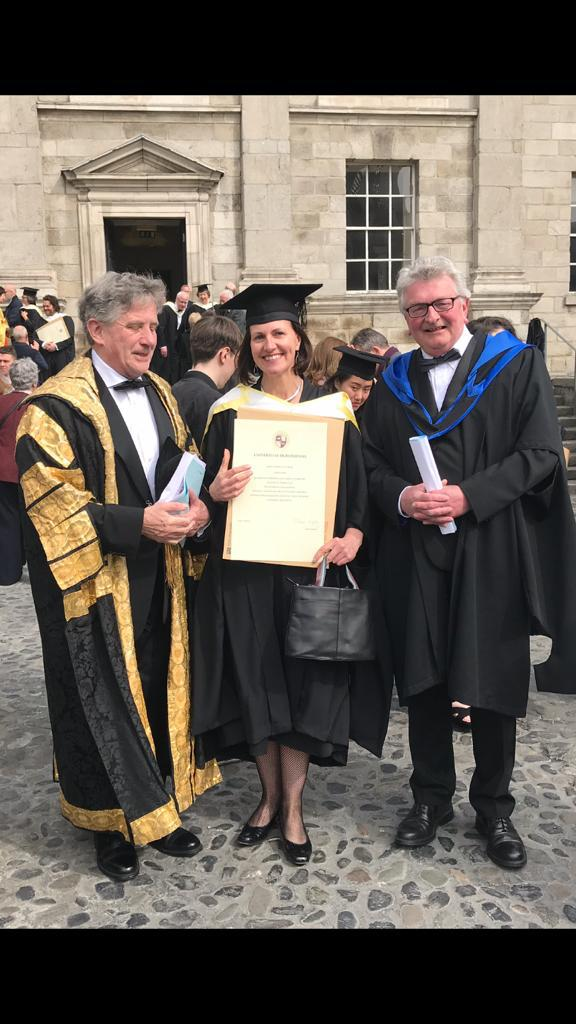 Thank you to everyone involved in the @tcddublin graduation ceremonies today. The music on the newly restored organ in the Public Theatre was beautiful. I am proud to be a new member of @tcdalumni.