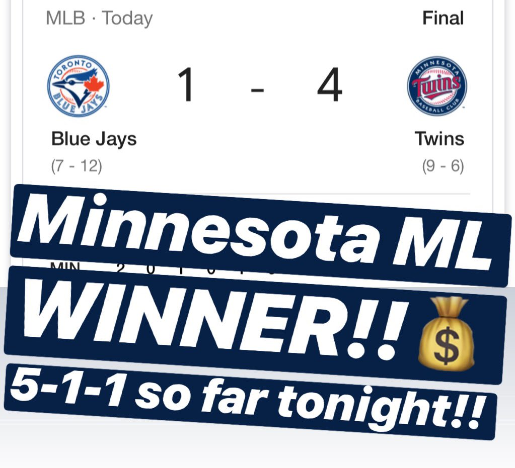 💰MINNESOTA ML is a WINNER!! 5-1-1 so far tonight!!💰🔥MESSAGE us NOW for the $10 Daily Special or the $59 April Special & receive a 🆓 ATS Tee!!🔥329-117-8🔥#handicapper #ATS #WeWinWhenYOUWIN #sportsbetting #sportsbettingadvice  #ncaabasketball #nba #nhl #mlb