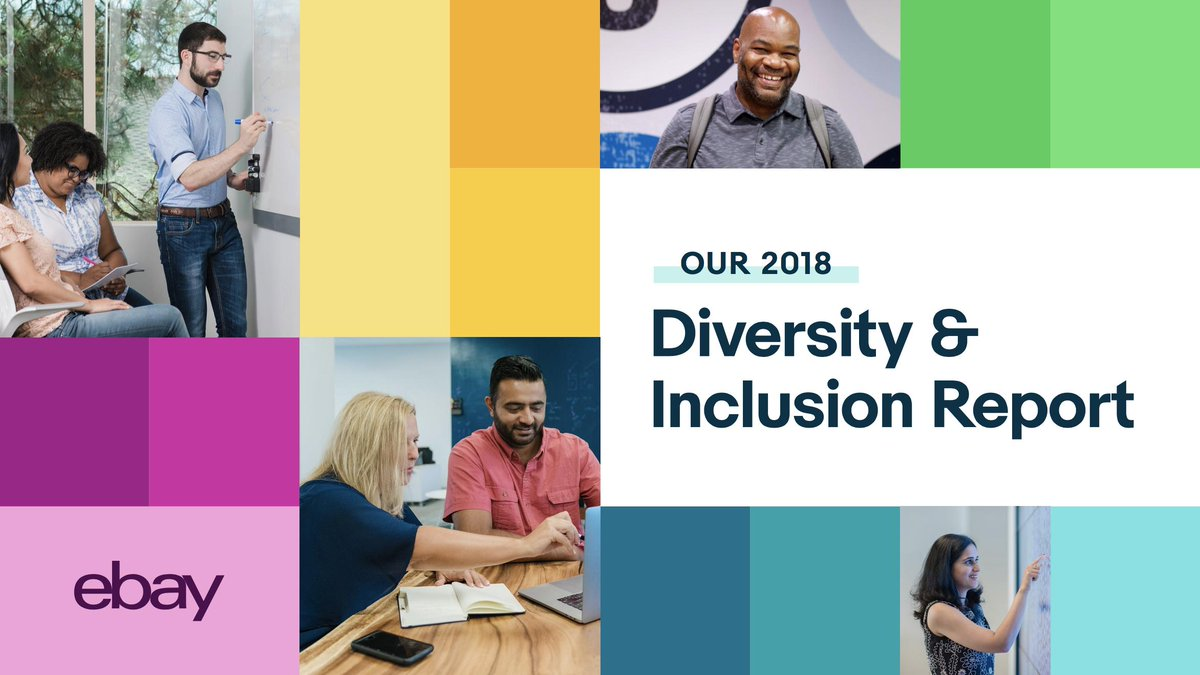 The more diverse & inclusive we are in our company, the more we reflect our customers. This not only enables us to make better decisions as a business, but also creates a positive impact inside eBay & throughout society. Latest report: https://t.co/cpsZShJXK7 https://t.co/rmWycOHJJS