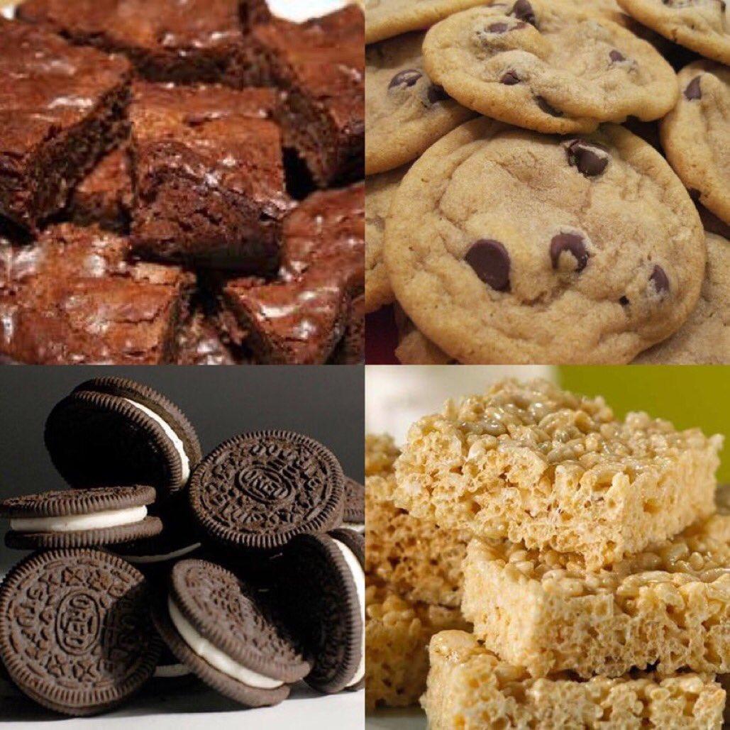 Brownies Chocolate Chip cookies Oreos Rice Krispies treats #1GottaGo