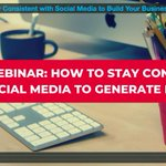 Missed our webinar this week on how to stay consistent with social media? Catch the replay here! https://t.co/AC5cLcxjFu #getsocialsmart #socialmediawebinar