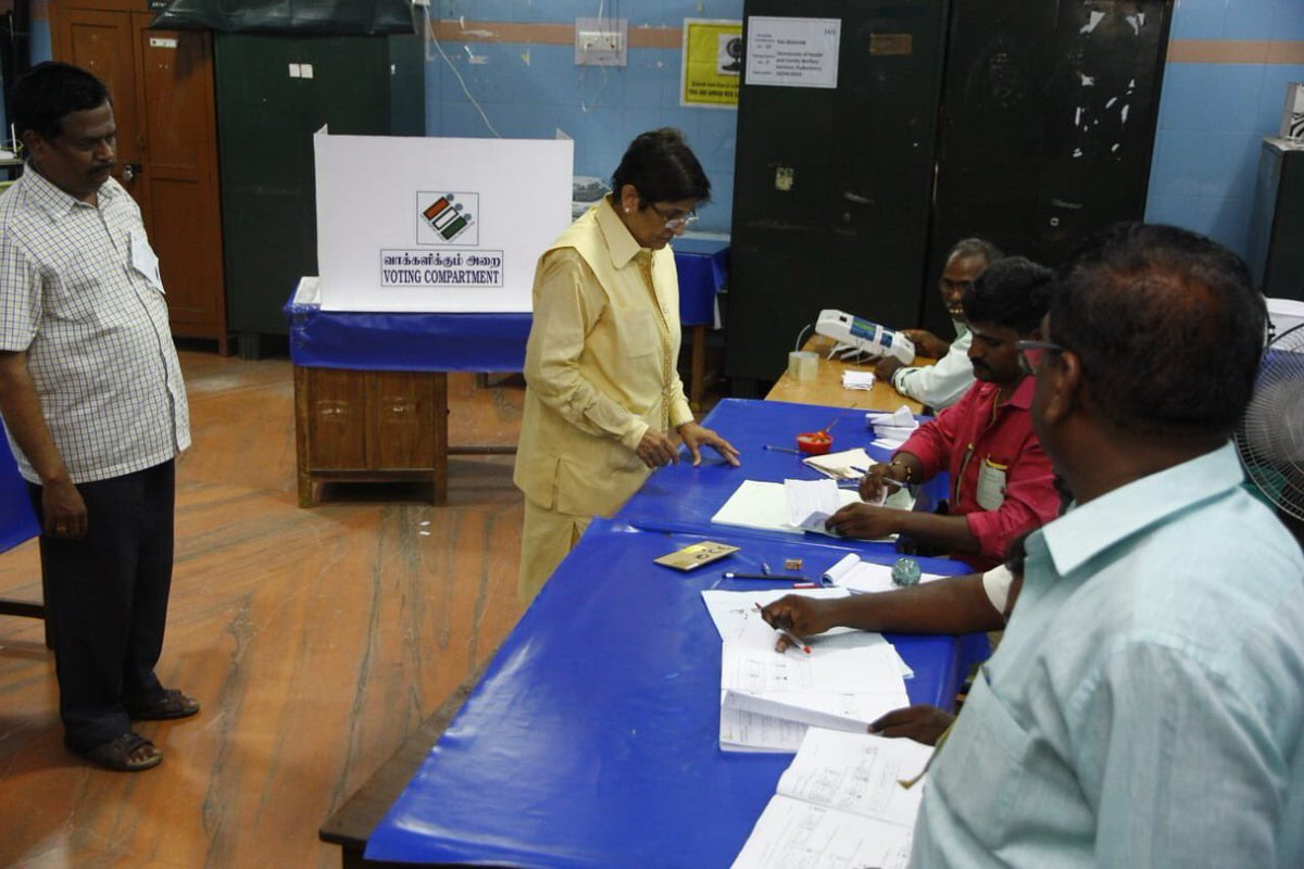 Image result for kiran bedi casting vote