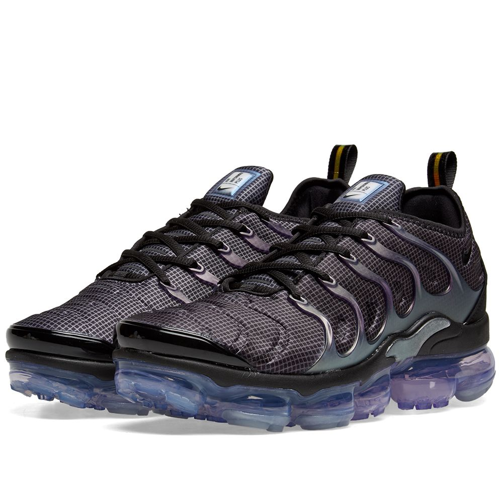 8aaee67a2d4 nikesair vapormax plusgetscovered in purple shades for its eggplant  colorway the hybrid silhouette features anair max