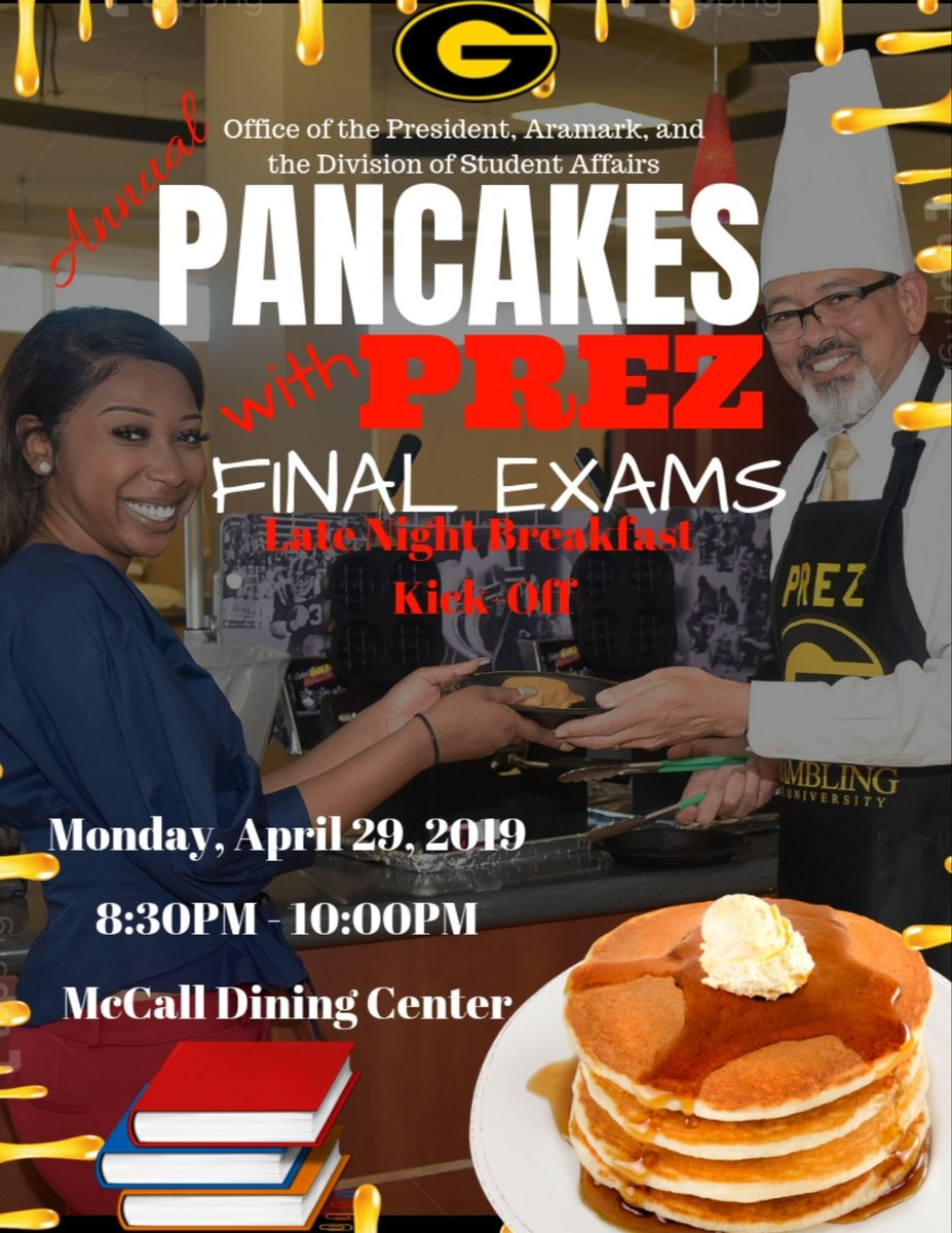 #GramFam...It&#39;s Back! Looking forward to kicking off Exam Week the right way! Prez and Slim took a great photo for the flyer! <br>http://pic.twitter.com/2bFC6TouoP