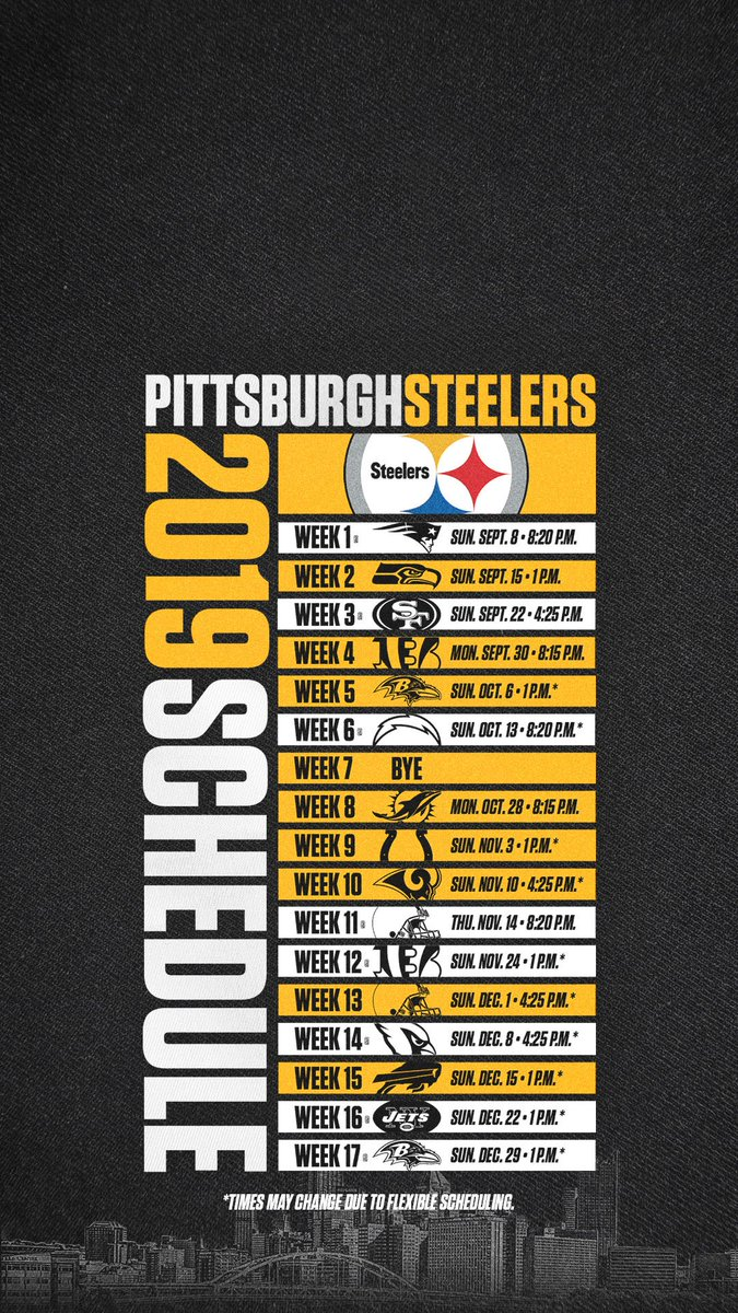 Accomplished image with steelers printable schedule