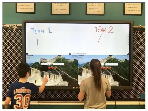 This is a great competition/review game for students on any subject. Perfect setup with the 4 zones in Snowflake! @GetClearTouch @MultiTeach  http:// bit.ly/2UGmWK0  &nbsp;  <br>http://pic.twitter.com/nDAHpITsZz