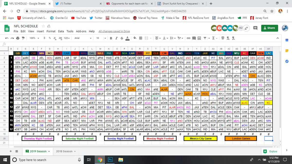 2020 Nfl Schedule.Nfl Research در توییتر Here It Is Your Full 2019 Nfl