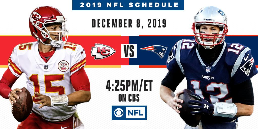 Football season is rapidly approaching, including an AFC Championship Game rematch on December 8th.  The @Chiefs visit the @Patriots on CBS. Full NFL ON CBS Schedule: http://bit.ly/2XgKbXC