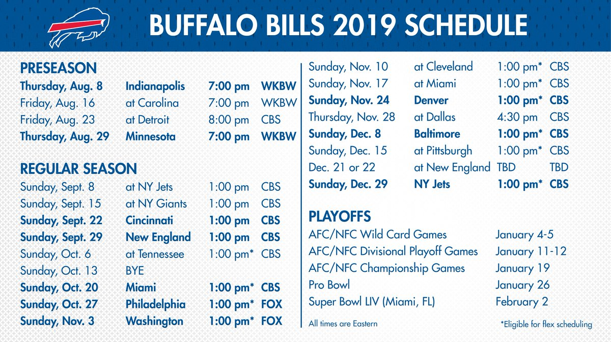 This is a graphic of Sly Buffalo Bills Printable Schedule