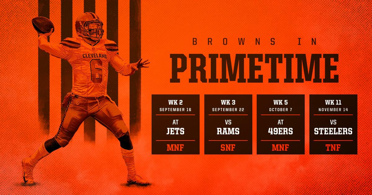 Our 2019 schedule features FOUR primetime games this season — the most for our franchise since 2008  Details »  http://brow.nz/OhuSi4