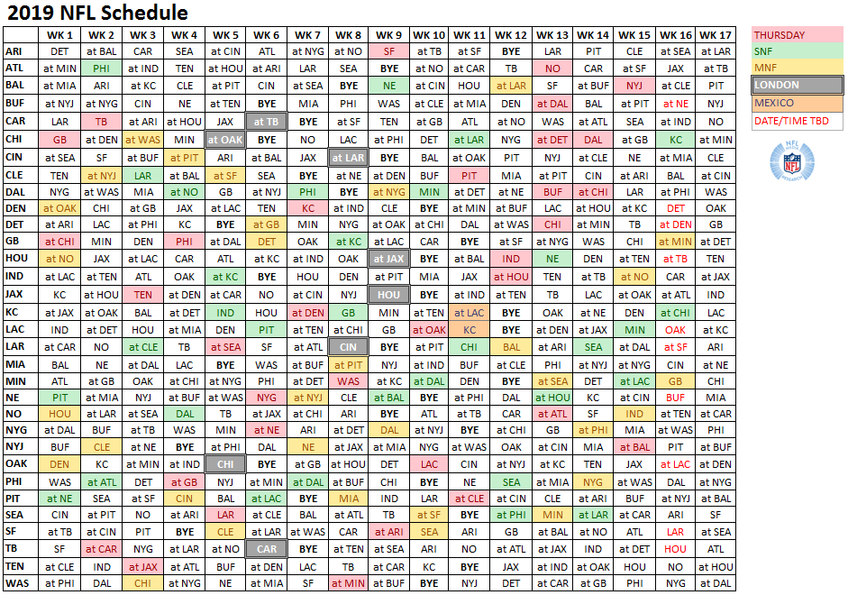 It is an image of Ambitious Nfl Weekly Schedule Printable