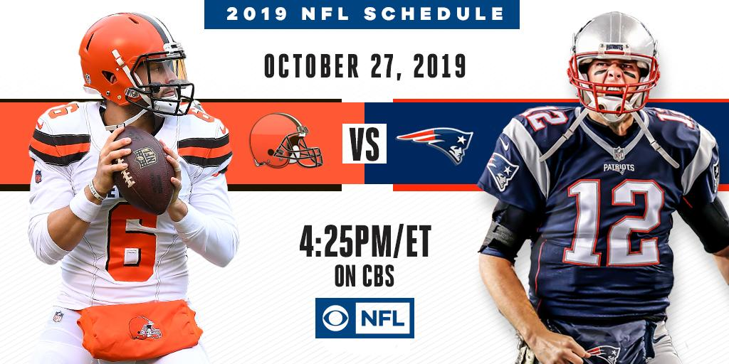 The Upstarts vs. the Champs   The new-look @Browns head to Foxborough to take on the @Patriots on CBS on October 27th.