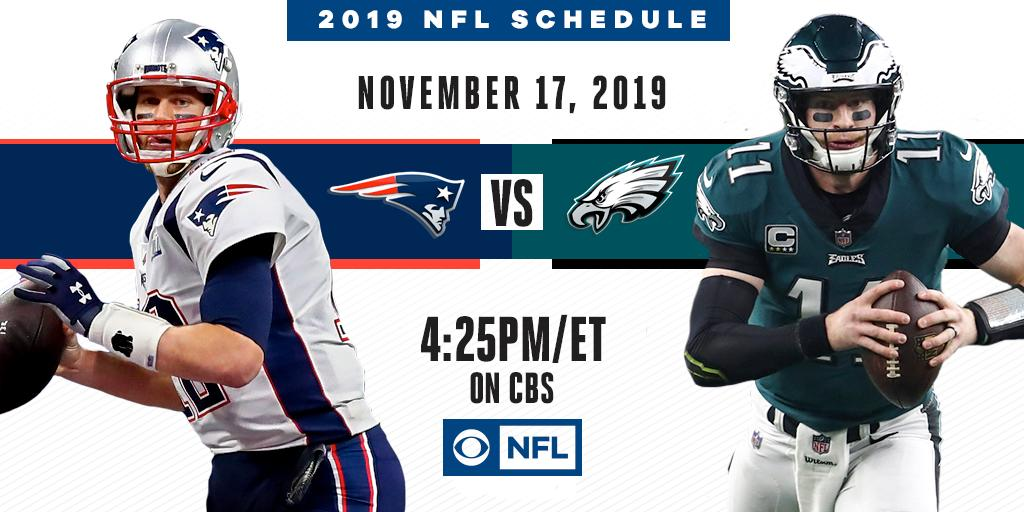 A Super Bowl LII Rematch   The @Patriots and @Eagles battle again on November 17th on CBS.