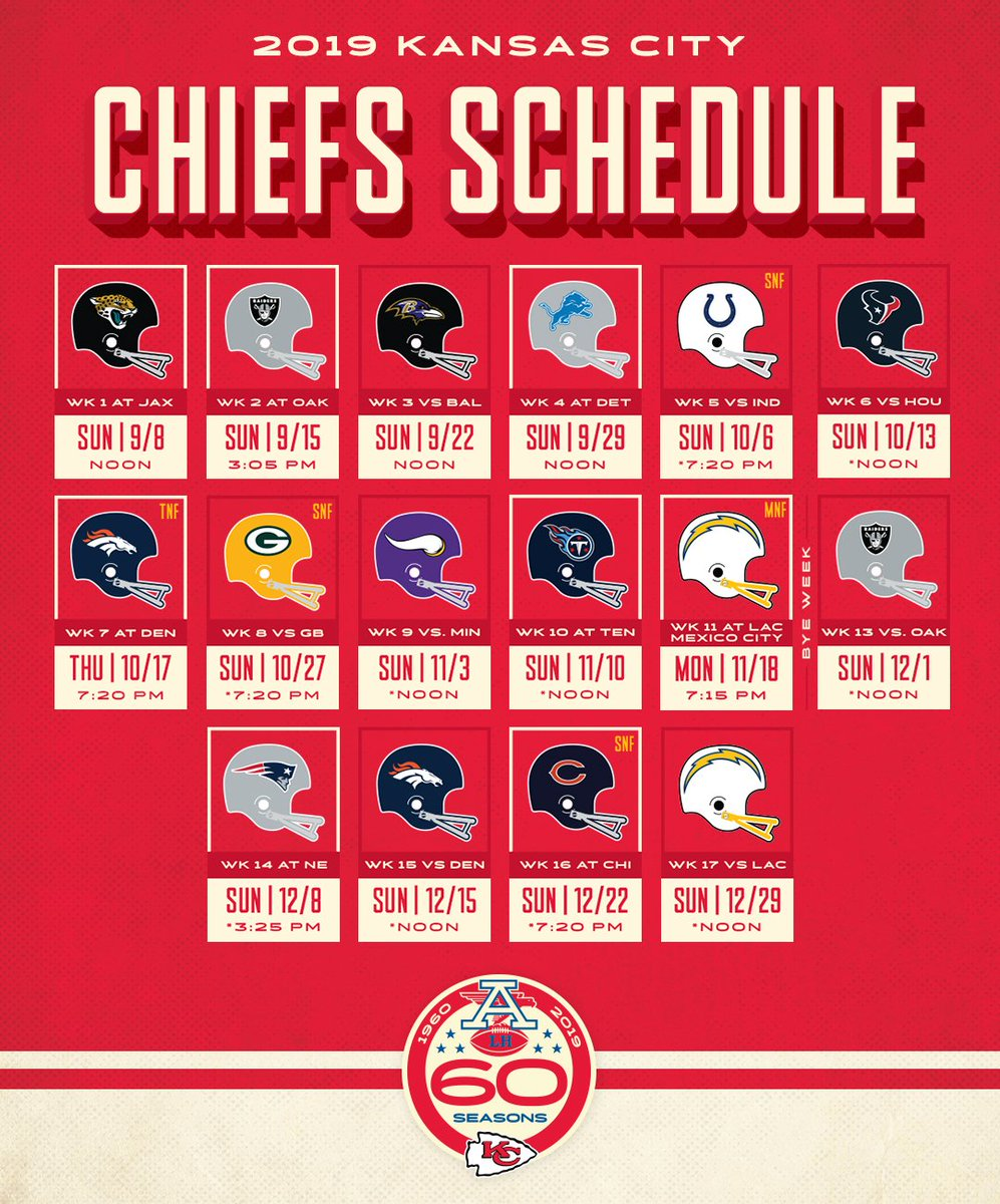 2019 Kc Chiefs Schedule Kansas City Chiefs on Twitter: