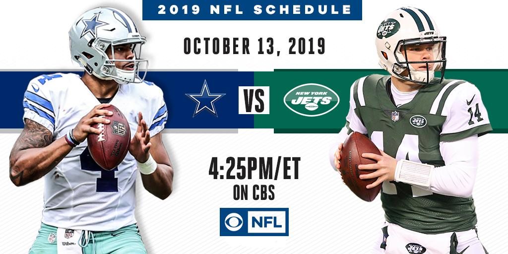 This one is going to be BIG TIME.  The @DallasCowboys visit the @nyJets on October 13th on CBS.