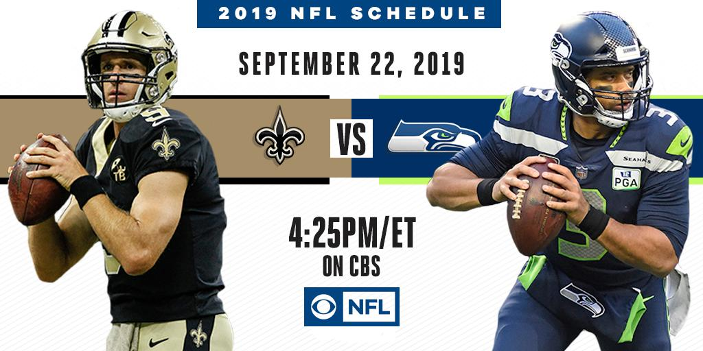 There's some history here.  The @Saints reignite their rivalry with the @Seahawks on September 22 on CBS.