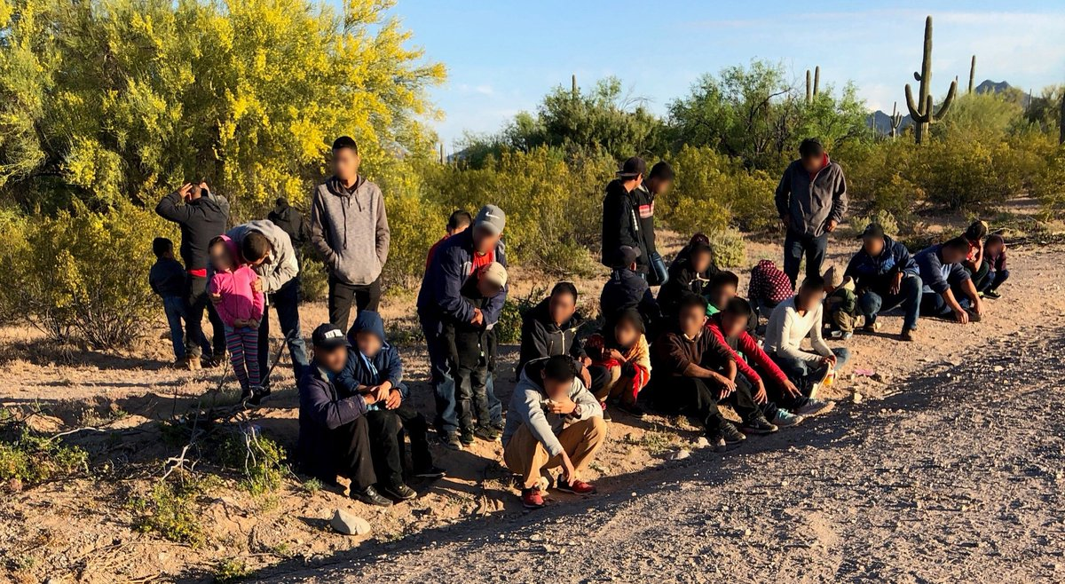 ICYMI: Yesterday, in a matter of 5 hours, #USBP agents encountered 3 groups of Central American migrants after they crossed the border illegally. In FY18, USBP encountered just 13 groups of 100 people or more. In just over 6 months this FY, they've encountered 114 groups of 100+.