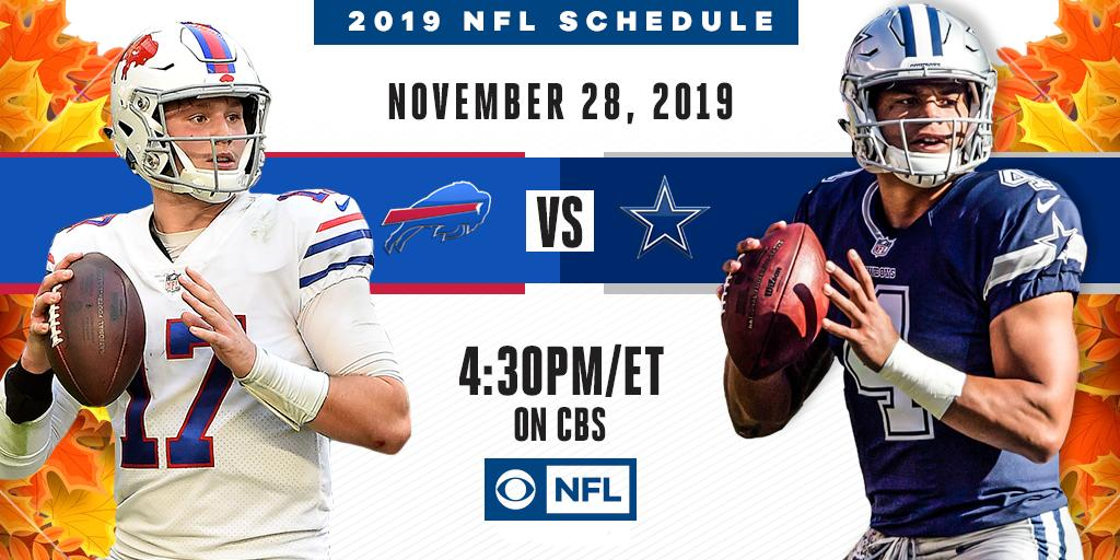 Thankfully, there is no shortage of football.  The @DallasCowboys host the @BuffaloBills on November 28th right here on CBS.