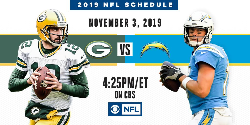 Time to light up the scoreboard.  Aaron Rodgers and the @Packers head to L.A. to face Philip Rivers and the @Chargers on CBS November 3rd.