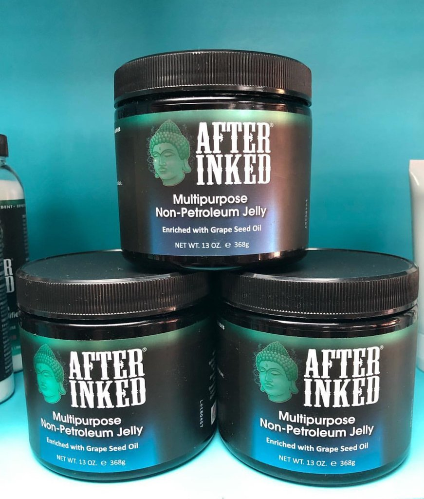 Enriched with Grape Seed Oil 🍇 #Winesday #WineWednesday #afterinked #proudusers #formulatedforperfection #afterinkedeveryday #tattooaftercare #piercingaftercare #inkseal #npj #vegan