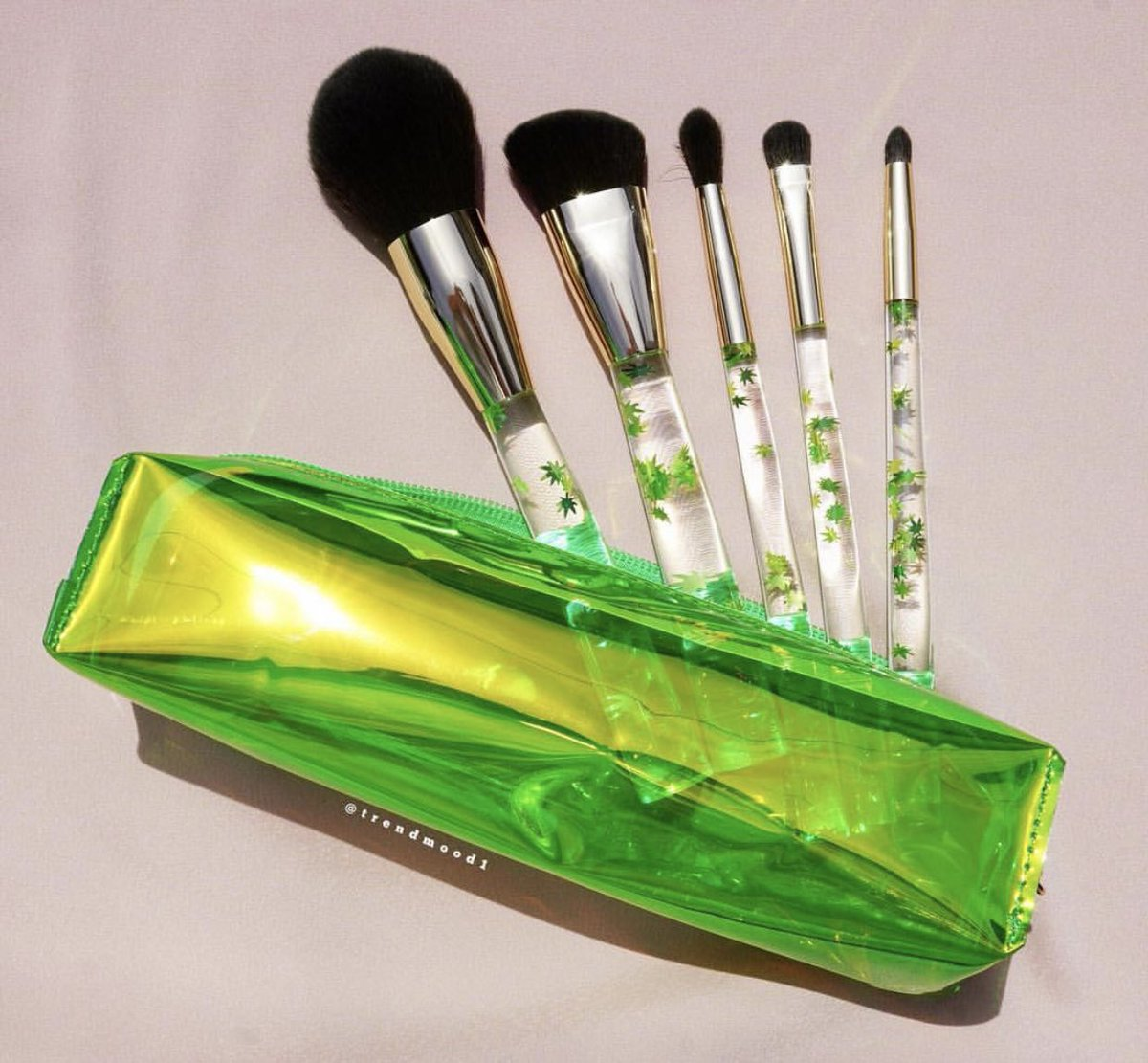 A Closer L👀K 🚨😍🌱💚 NEW The Cannabis #Brush #Collection created by @Beautylish Includes 5 Piece #crueltyfree #vegan brush set: The Powder Brush The Contour Brush The Blender Brush The Packer Brush The Smudger Brush + Zip Pouch #LimitedEdition $42 Online ➡️ TOMORROW @ 10am PST