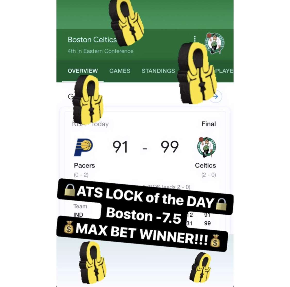 🚨Our ATS🔒of the DAY is a MAX BET WINNER!!🚨💰2-1-1 so far tonight!!💰🔥MESSAGE us NOW for the $10 Daily Special or the $79 April Special & receive a 🆓 ATS Tee!!🔥326-117-8🔥#handicapper #ATS #WeWinWhenYOUWIN #sportsbetting #sportsbettingadvice  #ncaabasketball #nba #nhl #mlb