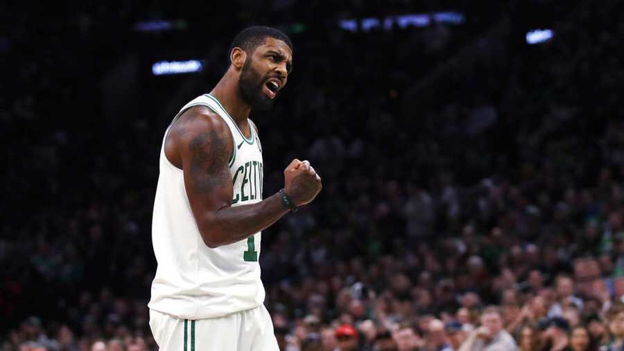 - Kyrie with 37 to give the Celtics a 2-0 lead  - Pastrnak with 2 goals as the Bruins equalize in Toronto   #BostonStrong <br>http://pic.twitter.com/TI81KjKsQi