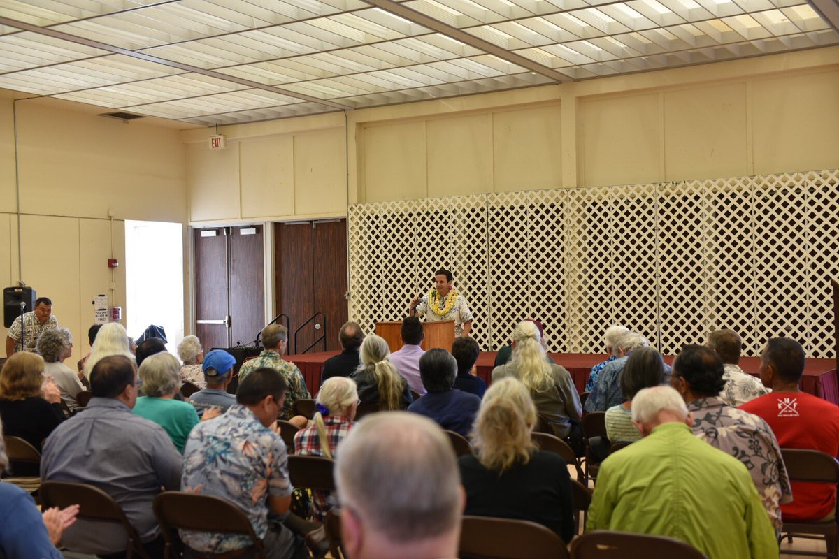Mahalo to everyone who came to our town hall meeting on Kauai!