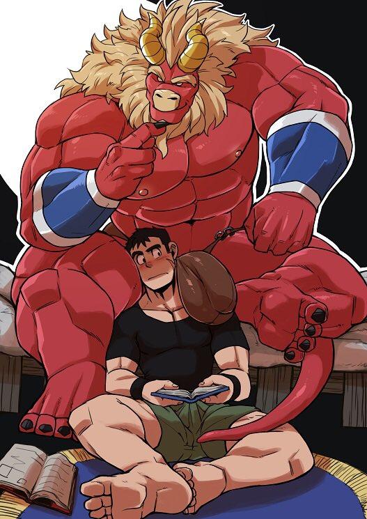 肩にボテっと熱くてデカイの乗せられる  http://www.furaffinity.net/view/31227505/