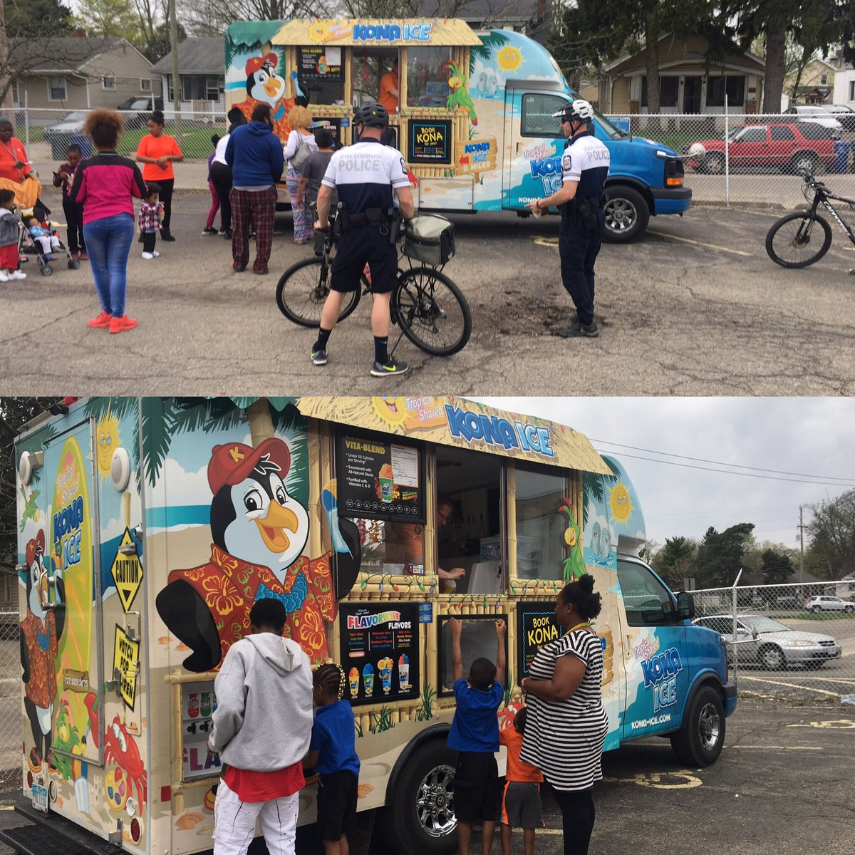 Columbus Ohio Police On Twitter Ice Ice Baby Shout Out To Konaice Columbus Community Liaison Officer Clo Alesia Zacher For Helping Linden Safe Streets To Provide Free Snow Cones At A