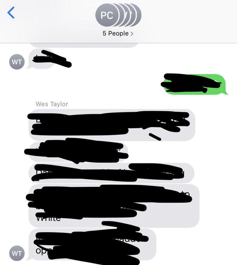 How do our group chats go you ask? Well, it's mostly @westaylor32 talking to himself...